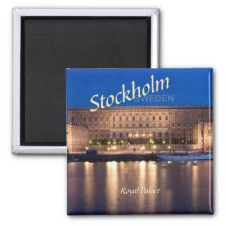 Reise-Foto-Kühlschrankmagnete Stockholms Schweden Quadratischer Magnet
