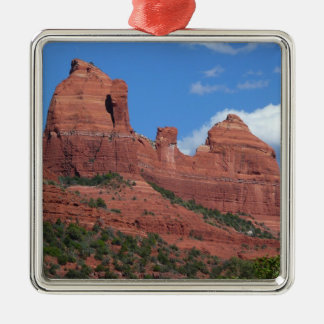 Reise-Fotografie Eagle-Felsen-I Sedona Arizona Quadratisches Silberfarbenes Ornament