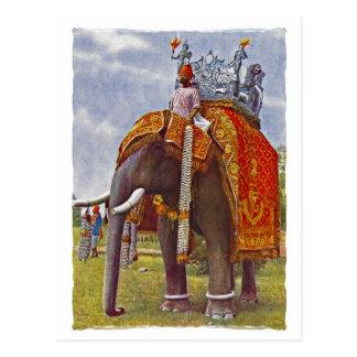 Reise in der Art-Postkarte Postkarte