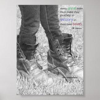 Reise in Ihrem eigenen Stiefel-Plakat
