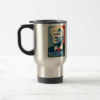 "Reise-Kaffee-Tasse Donald Trump ""NOPE""… Edelstahl Thermotasse"