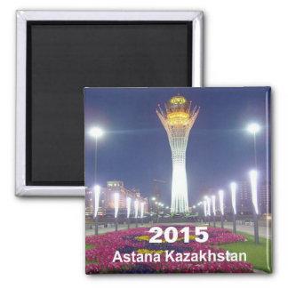 Reise-Kühlschrankmagnet-Änderungs-Jahr Astanas Quadratischer Magnet
