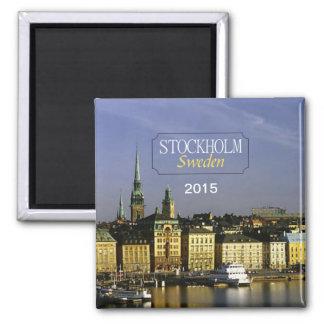 Reise-Kühlschrankmagnet-Änderungs-Jahr Stockholms Quadratischer Magnet