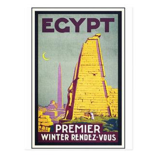 Reise-Kunst-Plakat Ägyptens Vintages Postkarte