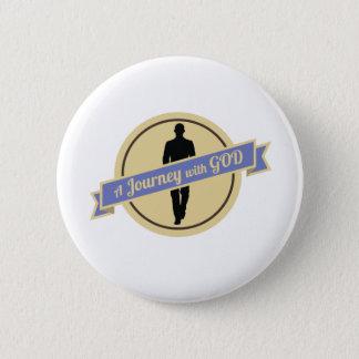 Reise mit Gott mit dem Mann-Gehen (Knopf) Runder Button 5,1 Cm