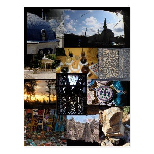 Reise-Montage Postkarte