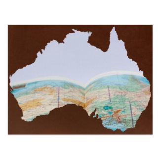 Reise nach Australien Postkarte