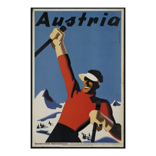 Reise-Plakat-Anzeigen-Retro Drucke Österreichs Vin