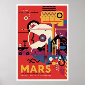 Reise-Plakat-Besuchs-Mars-Raum der NASAs Poster