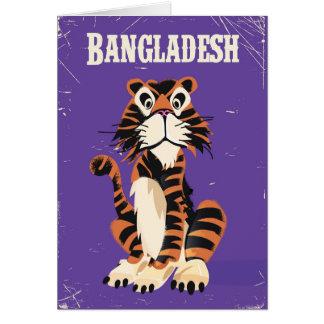 Reise-Plakat-Cartoon Bangladeschs Vintager Karte