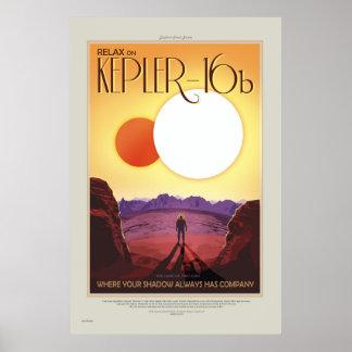 Reise-Plakat der NASAs Retro ExoPlanet Poster