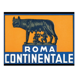 Reise-Plakat-Grafik Roms Continentale_Vintage Postkarte
