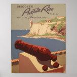 Reise-Plakat-Kunst-Druck Puertos Rico USA Vintager