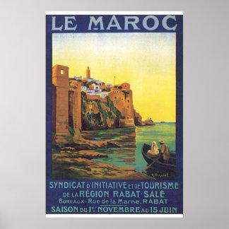 Reise-Plakat Le Maroc Vintage Poster