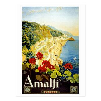 """Reise-Plakat-Postkarte """"Amalfis"""" Vintage Postkarte"""