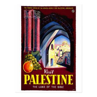 "Reise-Plakat-Postkarte ""Besuchs-Palästinas"" Postkarte"
