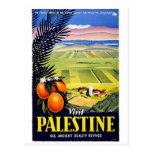 "Reise-Plakat-Postkarte ""Besuchs-Palästinas"" Vintag"