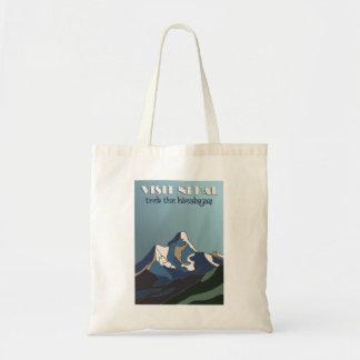 Reise-Plakat-Tasche Besuchs-Nepals Vintage Tragetasche