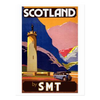 """Reise-Plakat Vintage Scotland Bus Company "" Postkarten"