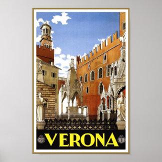 Reise-Plakat Vintagen Veronas, Italien Poster