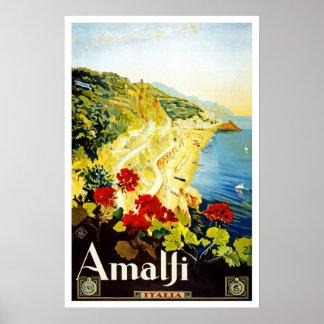 Reise-Plakat Vintages Amalfi Italien Europa Poster