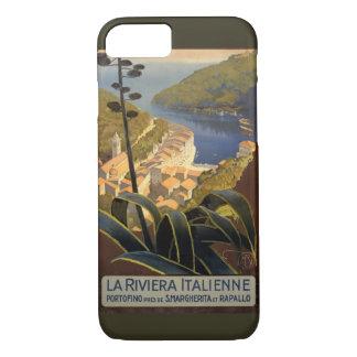 Reise-Plakat-Wiederherstellung La-Rivieras iPhone 8/7 Hülle