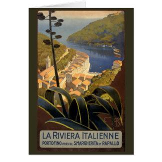 Reise-Plakat-Wiederherstellung La-Rivieras Karte