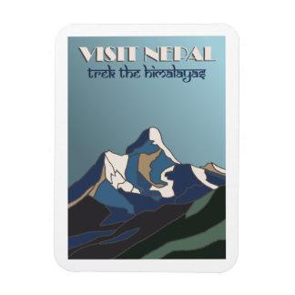 Reise-Plakatmagnet Besuchs-Nepals Vintager Magnet