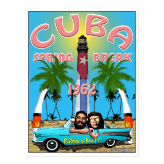 Reise-Postkarte Kuba-Frühjahrsferien-1962 Postkarte