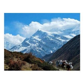 Reise-Sommer Himalaja-Mount Everest-Indiens Nepal Postkarte