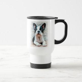 Reise-Tasse der französischen Bulldogge Edelstahl Thermotasse