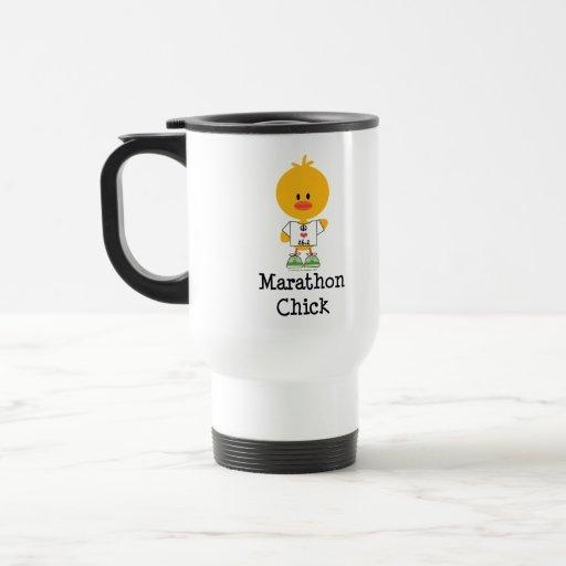 Reise-Tasse der Marathon-Küken-FriedensLiebe-26,2