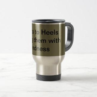 Reise-Tasse des rostfreien Stahls mit Sprichwort Reisebecher