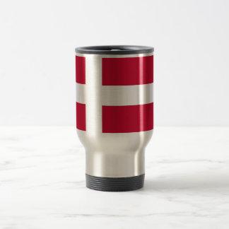 Reise-Tasse mit Flagge von Dänemark Edelstahl Thermotasse