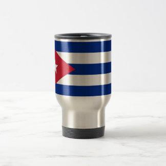 Reise-Tasse mit Flagge von Kuba Edelstahl Thermotasse