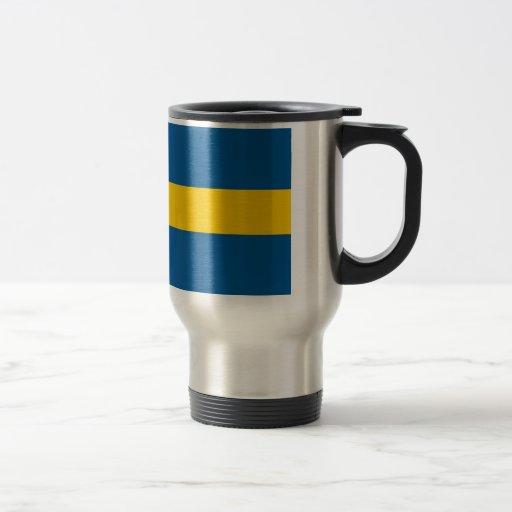Reise-Tasse mit Flagge von Schweden