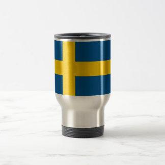 Reise-Tasse mit Flagge von Schweden Edelstahl Thermotasse