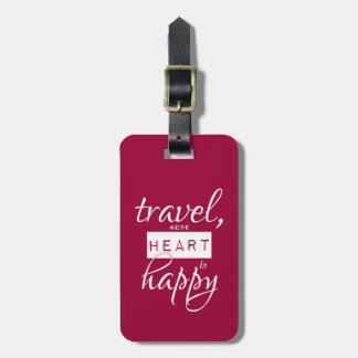 Reise und das Herz ist glücklich Gepäckanhänger