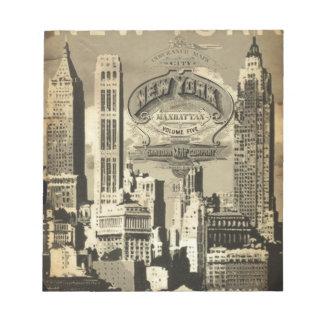 Reise Vintages New York Amerikas USA Notizblock