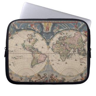 Reise-Weltkarten-Vintage Kunst-Kugel Laptopschutzhülle