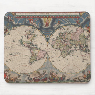 Reise-Weltkarten-Vintage Kunst-Kugel Mousepad