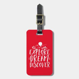Reise-Zitat erforschen Traum entdecken Adress Schild