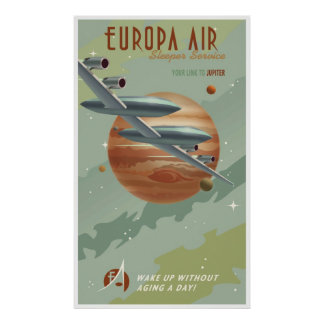Reise zu Jupiter Posterdruck