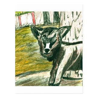 Reise zum Zoo - Baby-Ziege Postkarte