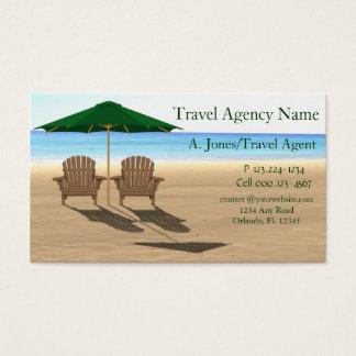 Reisebüro-Strand Visitenkarte
