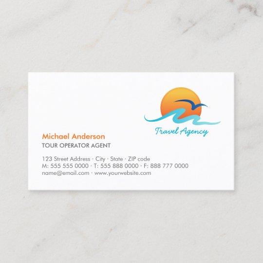 Reisebüro Tourismus Reiseveranstalter Visitenkarte