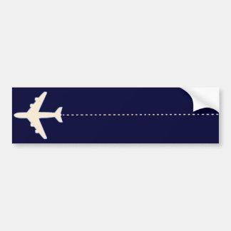 Reiseflugzeug mit punktierter Linie Autoaufkleber