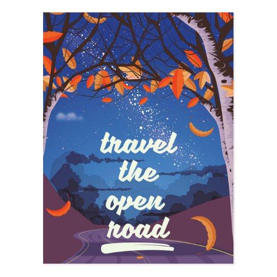 Reisen die offene Straße Postkarte