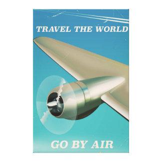 Reisen die Welt - gehen Sie auf dem Luftweg Leinwanddruck