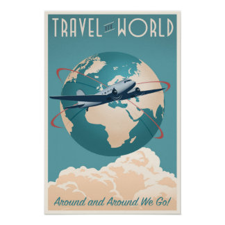 Reisen die Welt - in der Vintagen Art Poster